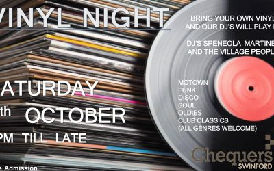 Vinyl Night 6th October